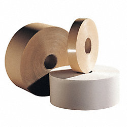 Carton Tape, Paper, Natural, 4Inx600Ft, PK6