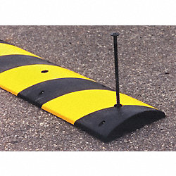 Speed Bump, 12x72, Black w/Yellow Tape