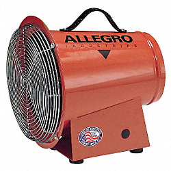 Confined Space Fan, Axial, 1/3 HP