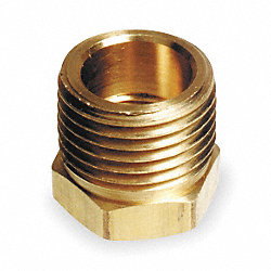 Pipe Bushing, 1/2 x 1/4 In, Brass, PK 10