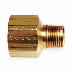 Reducer Adapter, 1/4 x 1/8, Brass, PK 10