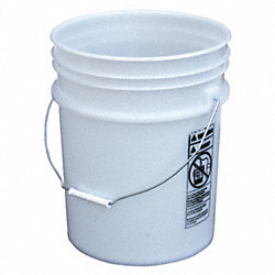 Plastic Pail, 5.4 gallon, Steel Handle