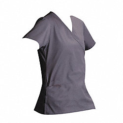 Scrub Shirt, XS, Gray, 4.25 oz.