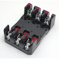 Fuse Holder, 30A, 600V, 3Pole, Box Lug, Indic