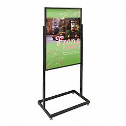 Sign Holder, Pedestal, 24x36, Alum, Black