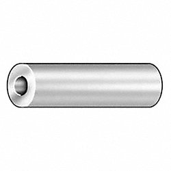 Round Spacer, Alum, #10, 5/8 In L, Pk 10