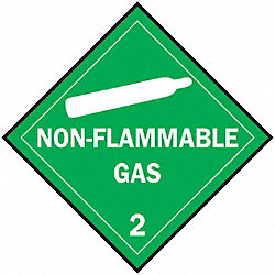 Vehicle Placard, Non Flammable Gas