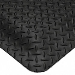 Anti-Fatigue Mat, Dry Area, Black, 3 x 5 ft