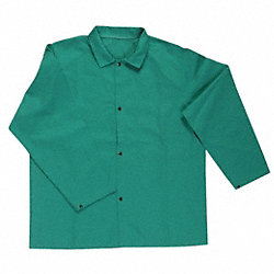 Flame Retardant Jacket, Green, 2XL