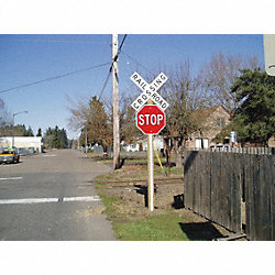 Sign Post Reflector, Plastic, 3 In. W