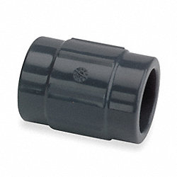 Coupling, 1 In, Slip Socket, PVC