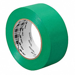 Duct Tape, 1-1/2 In x 50 yd, 6.3 mil, Green