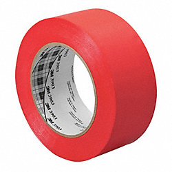 Duct Tape, 1 In x 50 yd, 6.3 mil, Red, Vinyl