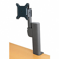 Monitor Arm, Column Mount, Black, 24 In