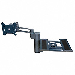 Laptop/Monitor Dual Arm, Column, Gray, 24in