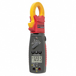 Digital Clamp On Ammeter, 600V, TRMS