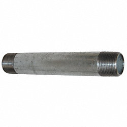 Nipple, 1/8 x 4 In, Galvanized Steel