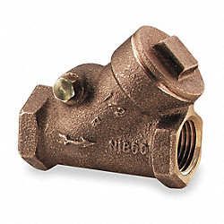 Swing Check Valve, 1-1/2 In, FNPT, Bronze