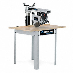 Radial Arm Saw, 10In Bld, 1.5 HP, 120/240V