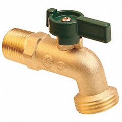 Hose Bibb, Quarter Turn, 1/2In, Brass
