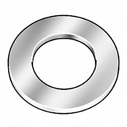 Flat Washer, Ylw Zinc, Fits 7/16 In, Pk 25
