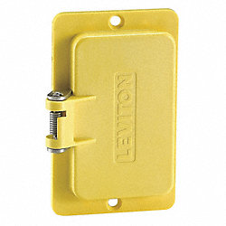 Cover Plate, 1 Gang GFCI, Flip Lid, Yellow