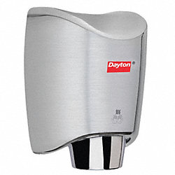 Hand Dryer, Brushed, Stainless Steel