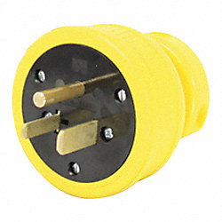 Plug, 6-50P, 250V, 3 Wire, Flip Seal, Yellow