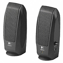 Computer Speakers, Black, 2 Watts