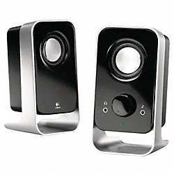 Computer Speakers, Black/Silver, 6 Watts