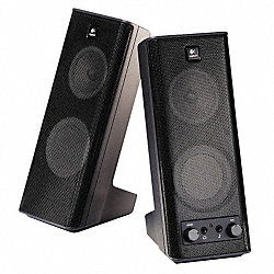 Computer Speakers, Black, 10 Watts