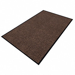 Entrance Mat, Yarn/PVC, Brown, 4x6 ft.
