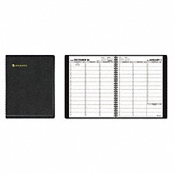 Planner, Weekly, 8-1/4 x 10-7/8in, Black