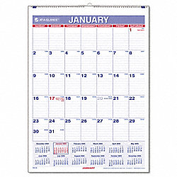 Wall Calendar, Monthly, 8 x 11 In