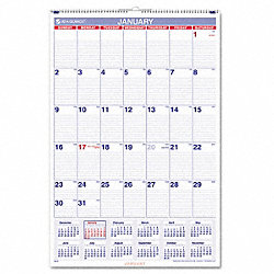 Wall Calendar, Monthly, 20 x 30 In