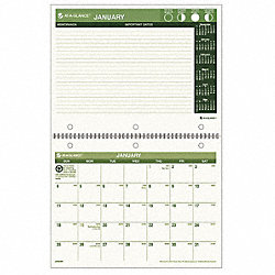 Desk/Wall Calendar, Monthly, 11 x 8-1/2 In