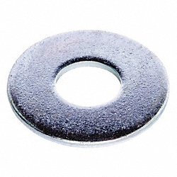 Flat Washer, USS, Fits 7/16 In, Pk 100