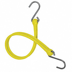 Bungee Strap, S-Hook, 36 In.L, Yellow