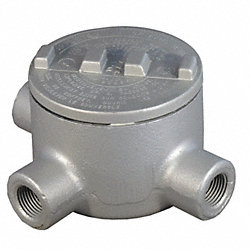 Conduit Outlet Box, HazLoc, T, 1/2 Hub, Iron