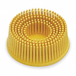 Tapered Bristle Disc, 2 In Dia, 80G