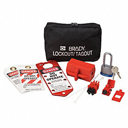 Portable Lockout Kit, Filled, Electrical, 8