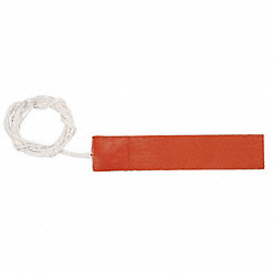Strip Heater, Silicone Rubber, 6 In. L