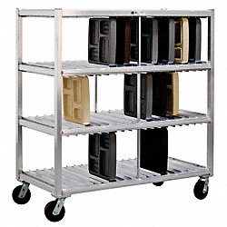 Mobile Tray Drying Rack, 3 Levels
