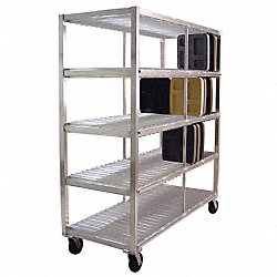 Mobile Tray Drying Rack, 4 Levels