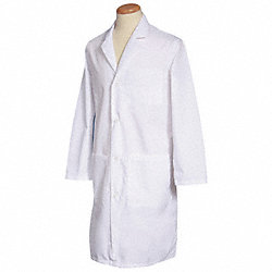 Lab Coat, 2XL, White, 42-3/4 In. L