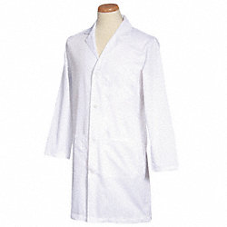 Lab Coat, White, 38-1/2 In. L