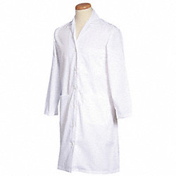 Lab Coat, M, White, 39-1/2 In. L