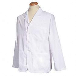 Lab Coat, XL, White, 28-1/2 In. L