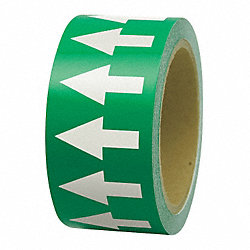 Arrow Tape, White/Green, 1 In. W