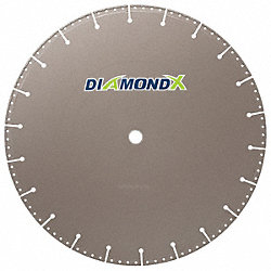 Diamond Saw Bld, Dry, Sgmntd Rim, 16 In Dia